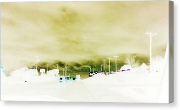 Canvas Print featuring the photograph City Limits by Max Mullins