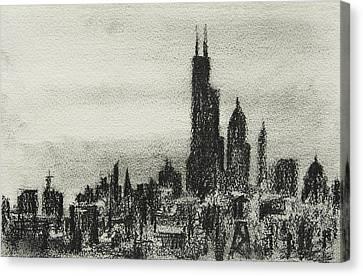 Chicago Canvas Print - City Love I by Rachel Christine Nowicki