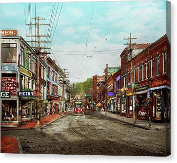 Canvas Print featuring the photograph City - Ma Glouster - A Little Bit Of Everything 1910 by Mike Savad