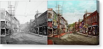 Canvas Print featuring the photograph City - Ma Glouster - A Little Bit Of Everything 1910 - Side By Side by Mike Savad