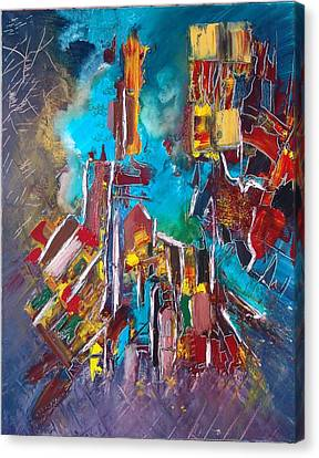 City Memory Canvas Print by Mona Roussette