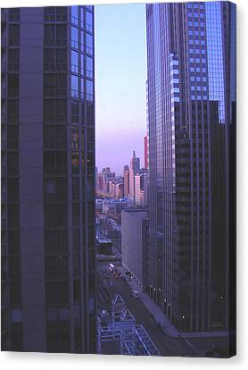 City Morning Between  Canvas Print by Peter  McIntosh