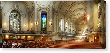 Canvas Print featuring the photograph City - Naval Academy - God Is My Leader by Mike Savad