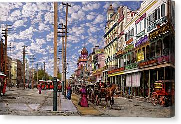 City - New Orleans - New Orleans The Victorian Era 1887 Canvas Print by Mike Savad