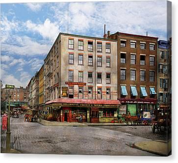 City - New York Ny - Fraunce's Tavern 1890 Canvas Print by Mike Savad