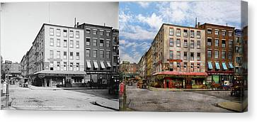 City - New York Ny - Fraunce's Tavern 1890 - Side By Side Canvas Print by Mike Savad