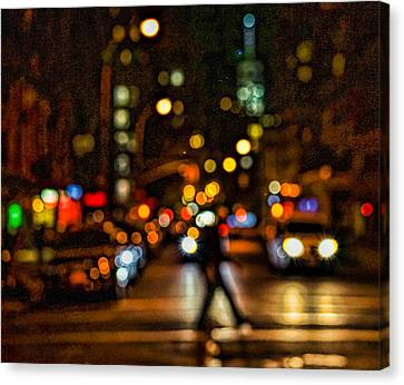 City Nights, City Lights Canvas Print