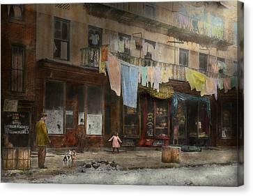 City - Ny - Elegant Apartments - 1912 Canvas Print by Mike Savad
