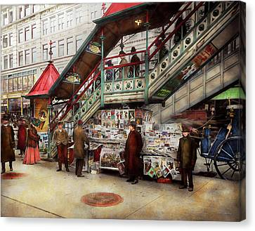 City - Ny - Want A Paper Mister 1903 Canvas Print by Mike Savad