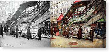 City - Ny - Want A Paper Mister 1903 - Side By Side Canvas Print by Mike Savad