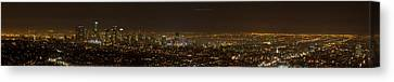 City Of Angels Panorama Canvas Print by Brad Scott