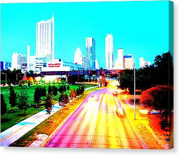 City Of Austin From The Walk Bridge Canvas Print
