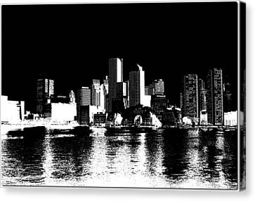 City Of Boston Skyline   Canvas Print by Enki Art