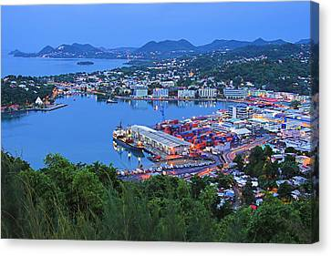 City Of Castries-st Lucia Canvas Print