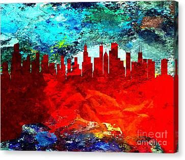 City Of Chicago Grunge Canvas Print