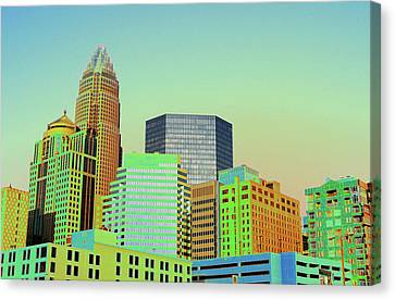 City Of Colors Canvas Print by Karol Livote