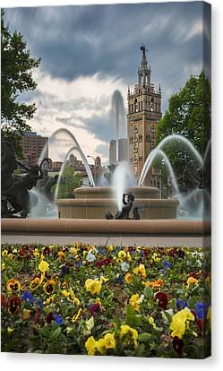City Of Fountains Canvas Print by Ryan Heffron