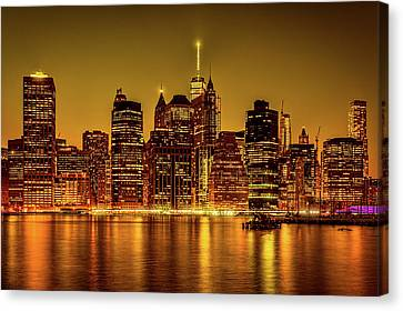 Canvas Print featuring the photograph City Of Gold by Chris Lord