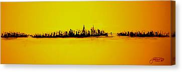 City Of Gold Canvas Print