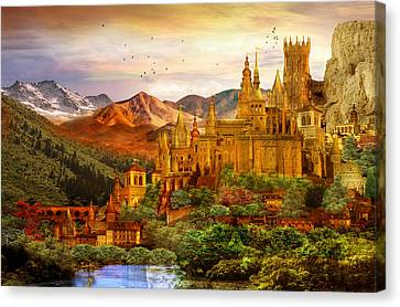 City Of Gold Canvas Print by Mary Hood