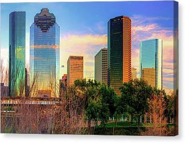 City Of Houston Texas Skyline Canvas Print