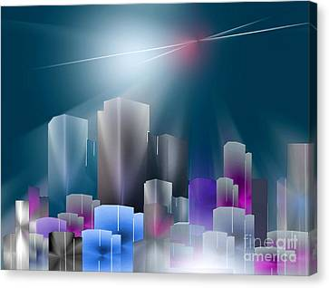 City Of Light Canvas Print by John Krakora