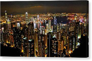 Canvas Print featuring the photograph City Of Lights by Blair Wainman