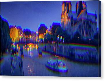 Canvas Print - City Of Lights by Ron Morecraft