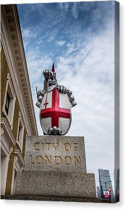 City Of London Canvas Print by Georgia Fowler