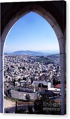 City Of Nazareth From The Saint Gabriel Bell Tower Canvas Print by Thomas R Fletcher