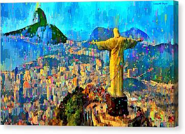City Of Rio De Janeiro - Da Canvas Print by Leonardo Digenio