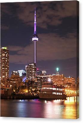 City Of Toronto At Night Canvas Print by Oleksiy Maksymenko