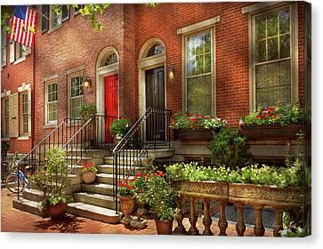 Canvas Print featuring the photograph City - Pa Philadelphia - Pretty Philadelphia by Mike Savad