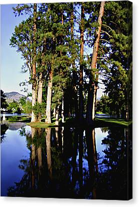 City Park Kettle River Grand Forks Bc Canvas Print by Barbara St Jean