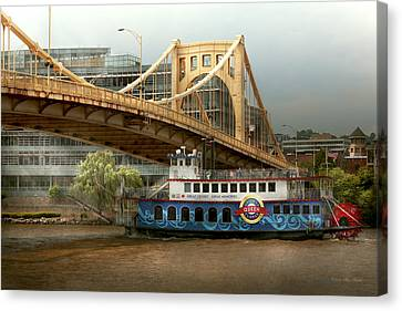 City - Pittsburg Pa - Great Memories Canvas Print by Mike Savad