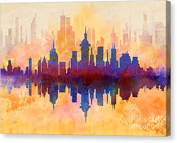 City Pulse Canvas Print by Bedros Awak