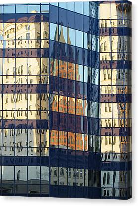 City Reflections 1 Canvas Print by Anita Burgermeister