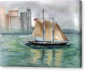 City Sail Canvas Print