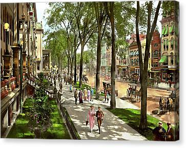 City - Saratoga Ny -  I Would Love To Be On Broadway 1915 Canvas Print