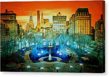 City Scene Canvas Print by Anthony Caruso