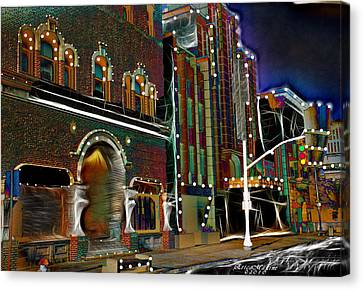Canvas Print featuring the photograph City Scene by EricaMaxine  Price