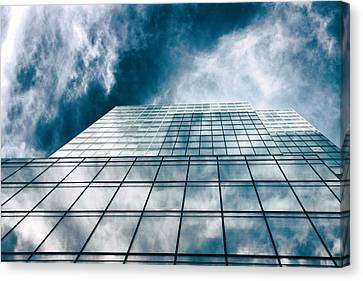 Canvas Print featuring the photograph City Sky Light by Jessica Jenney