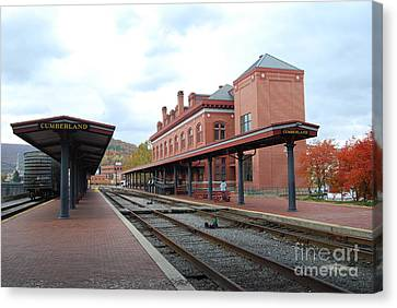 Canvas Print featuring the photograph City Station by Eric Liller