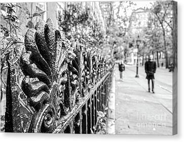 Canvas Print featuring the photograph City Street by Ana V Ramirez