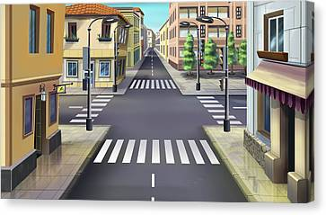 City Streets Canvas Print