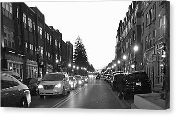 City Streets Canvas Print by Russell Keating