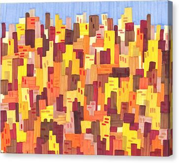 City Sunset Canvas Print by Jason Messinger