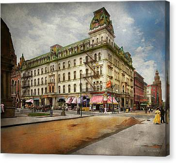 Canvas Print featuring the photograph City - Toledo Oh - Got A Boody Call 1910 by Mike Savad