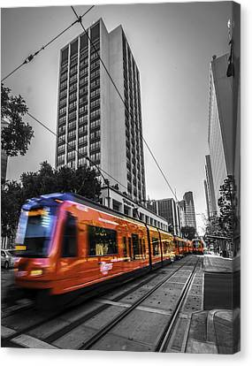 City Train Canvas Print by Phil Fitzgerald