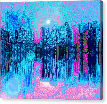 City Twilight Canvas Print by Holly Martinson
